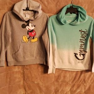 Other - Lot Girl's Hoodies Mickey Mouse and Justice Gymnst